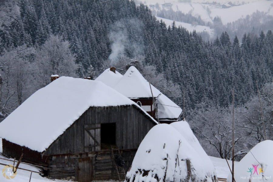 Iarna in satele din Piatra Craiului