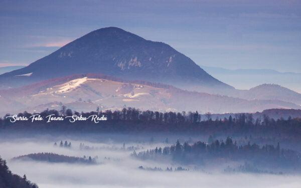 Peisaj de iarna pe Magura Codlei